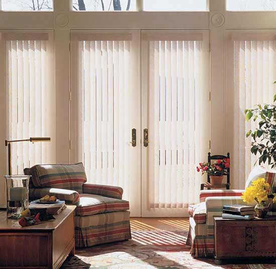 Vertical Blinds And Window Panels In Farmington Hills MI Windows - Hunter douglas blinds for patio doors