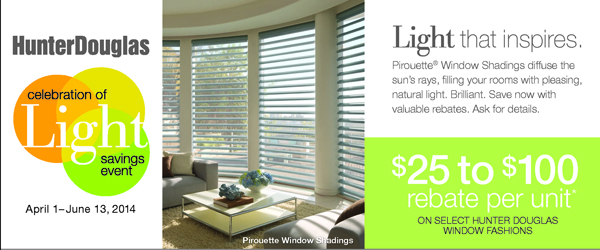 Hunter Douglas On Sale