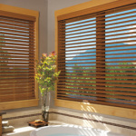 Bathroom - Faux Wood Shades