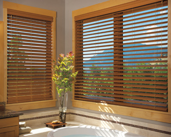 Faux Wood Window Blinds For Bathrooms