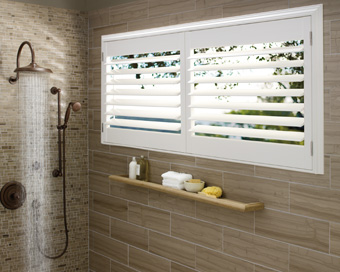 bathroom shutters window shutters - Bathroom Window Treatments