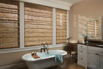 Woven Wood Window Shades For Bathrooms