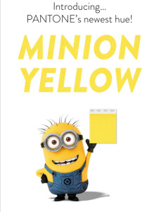 PANTONE's+Minion+Yellow+-+The+newest+hue+in+Pantone's+official+color+line+up,+inspired+by+Despicable+Me!