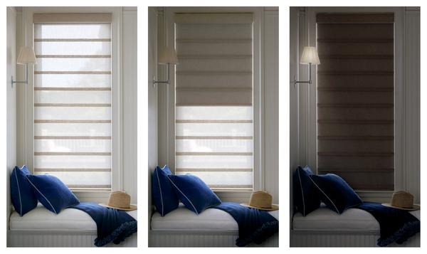 Vignette® Modern Roman Shades with Duolite®